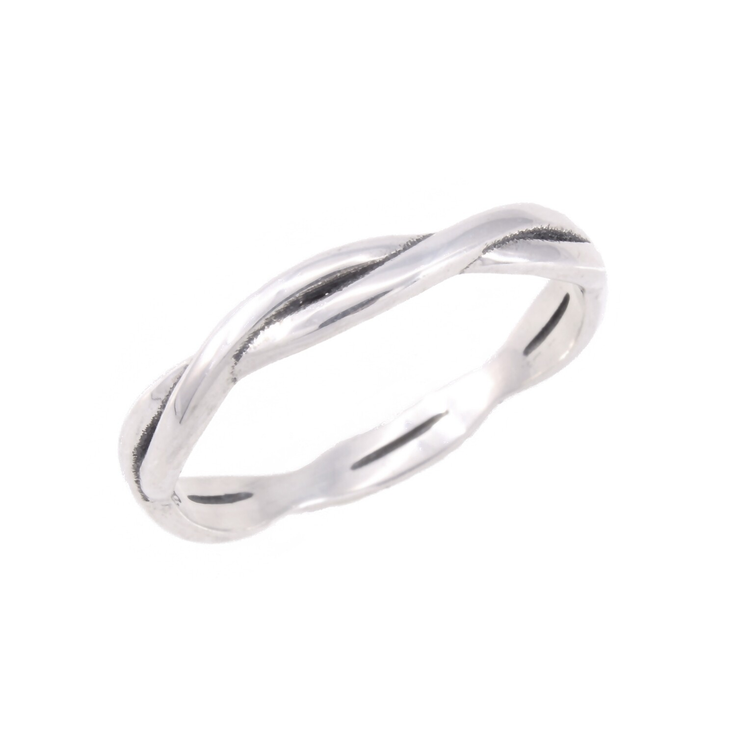 RP3436 Sterling Silver Braid Band Ring