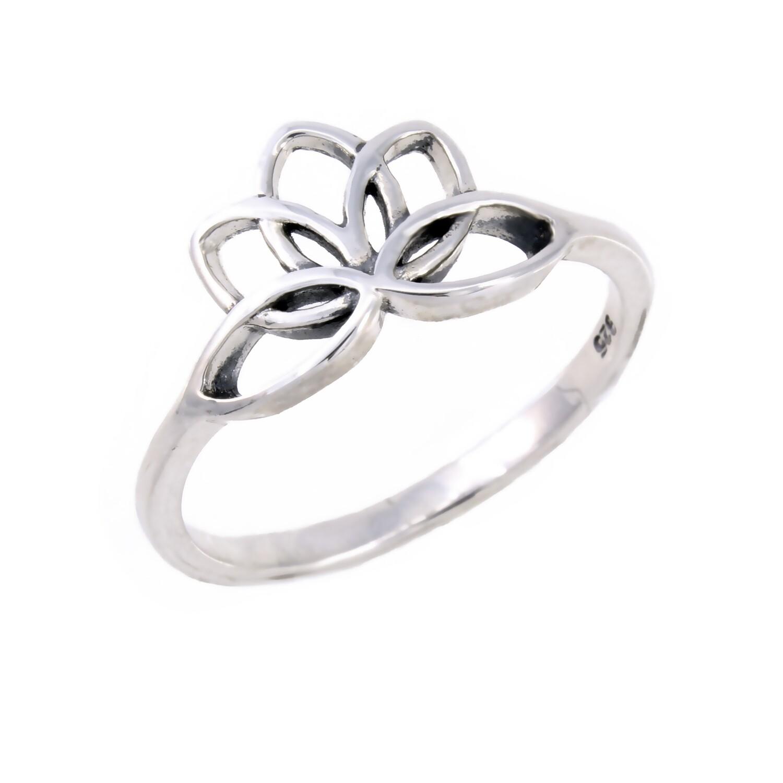 RP3073 Sterling Silver Lotus Ring
