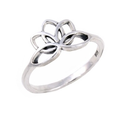 RP3073 Sterling Silver Lotus Ring