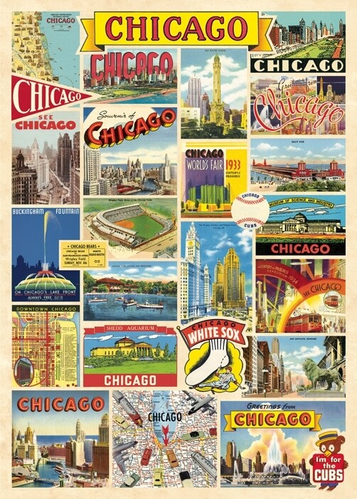 Chicago Collage Poster #403