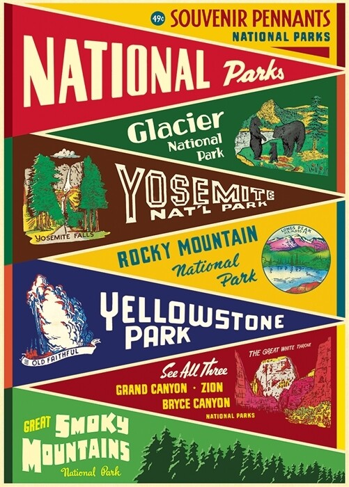 National Parks Pennants Poster #413