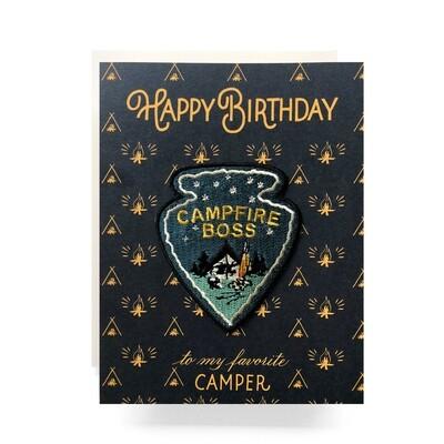 Campfire Boss Patch Card - AQ7