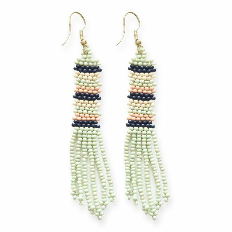 Mint Petite Fringe Earrings - IAE1