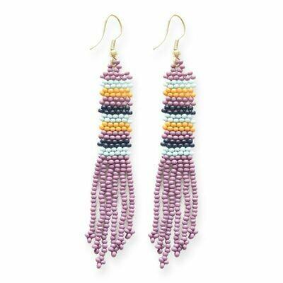Lilac Petite Fringe Earrings - IAE1