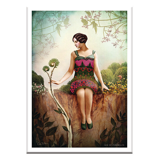 CD93 Ace of Pentacles Greeting Card