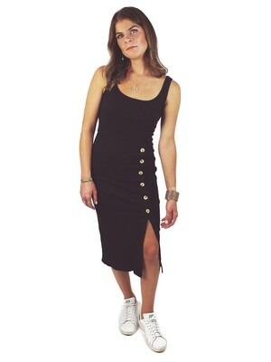 Billabong Rib Knit Midi-Dress - NIS-BLK