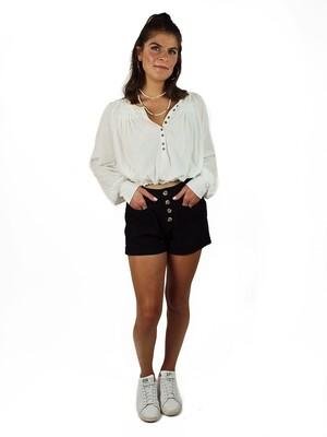 Billabong High-Rise Button Shorts - LEA-BLK