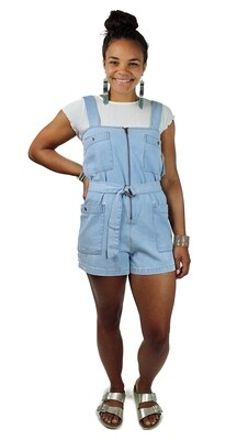 Billabong Chambray Overall Shorts LIG-CHY