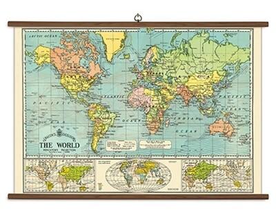 World Map Large School Chart