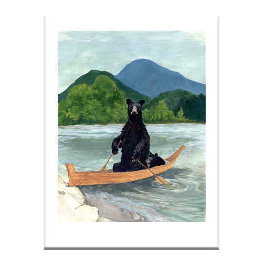 GH33 Bears in Boat Greeting Card