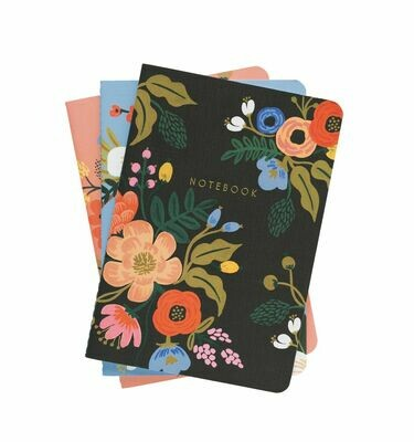 Lively Floral Notebooks - Set of 3 - Rifle Paper Co. RPC18