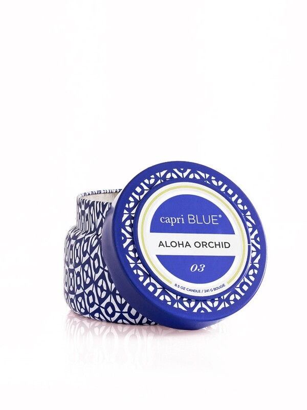 Aloha Orchid Candle - Capri Blue Printed Tin 8.5oz