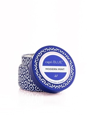 Modern Mint Candle - Capri Blue Printed Tin 8.5oz