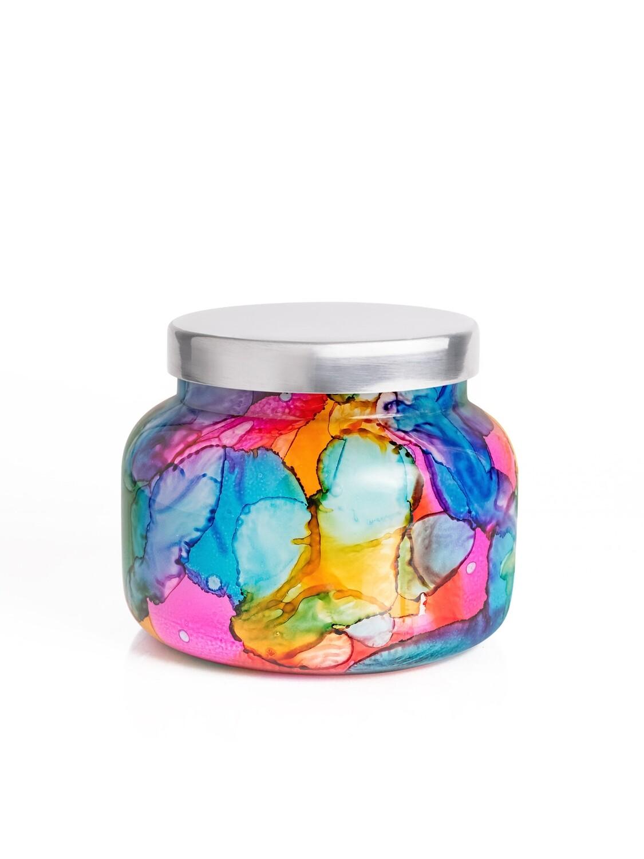 Volcano Candle - Capri Blue Rainbow Watercolor Jar 19oz