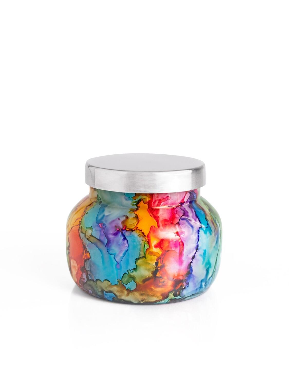 Volcano Candle - Capri Blue Petite Rainbow Watercolor Jar 8oz