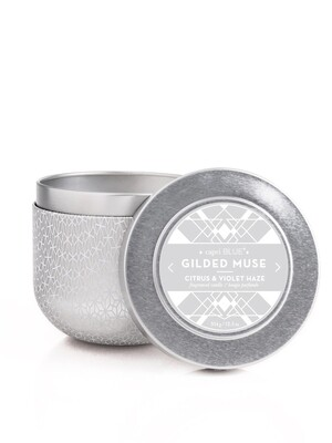 Citrus + Violet Haze Candle - Capri Blue Gilded Oversized Tin