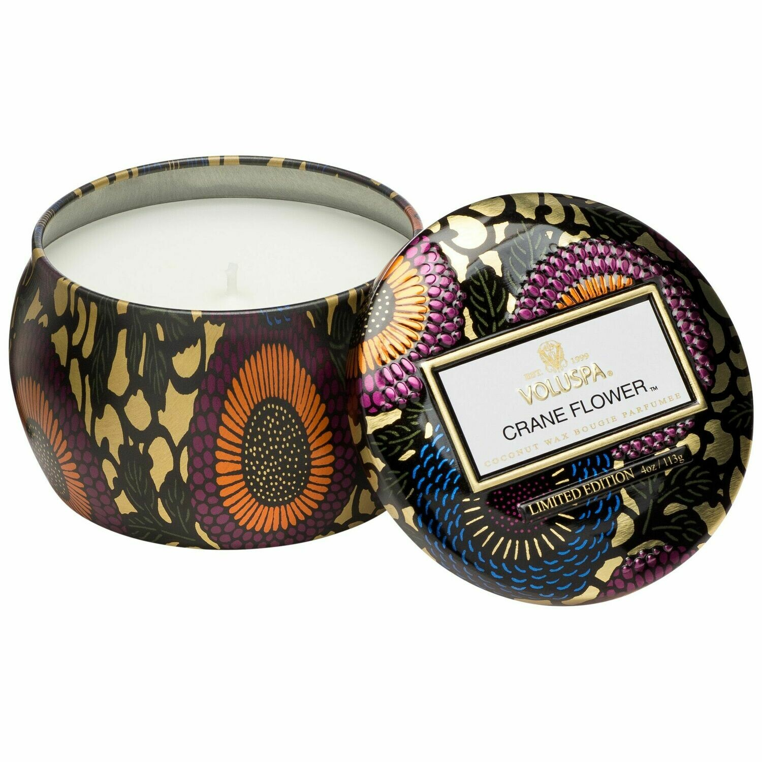 Crane Flower Candle - Voluspa Petite Tin Candle