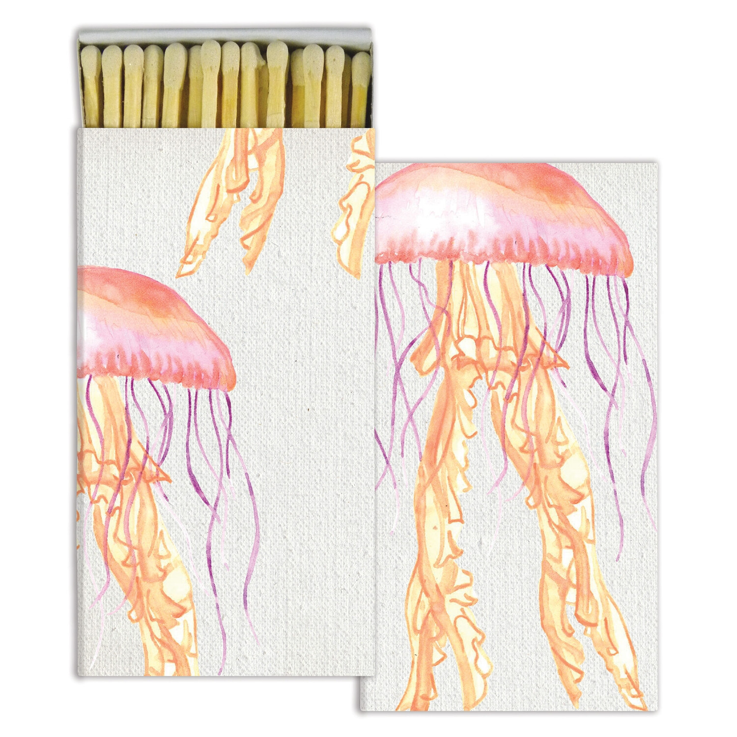 Jellyfish Watercolor Matches