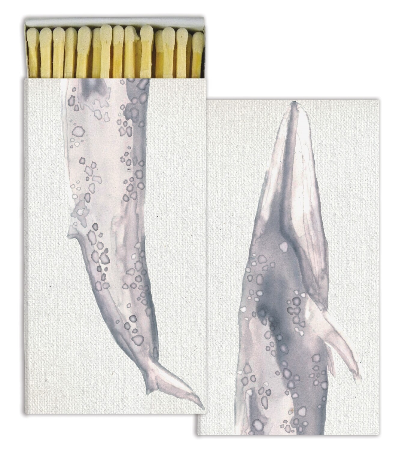Whale Watercolor Matches