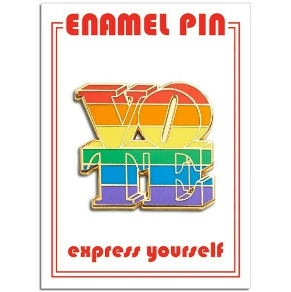 Vote Rainbow Enamel Pin - FFP-237