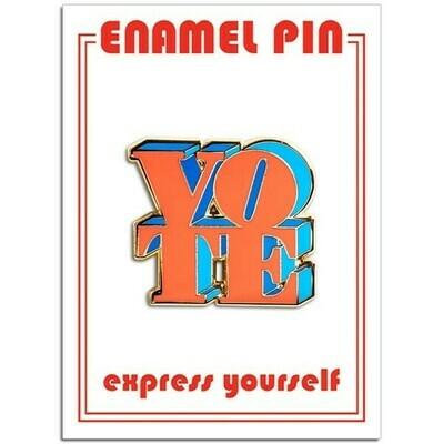 Vote Red/Blue Enamel Pin - FFP-181