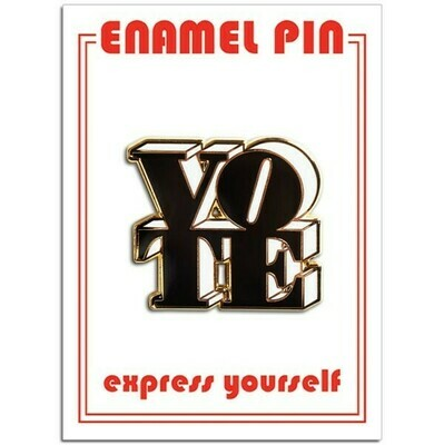 Vote Black/White Enamel Pin - FFP-182
