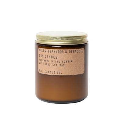 Teakwood + Tobacco 7.2 oz Soy Candle - P.F. Candle Co.