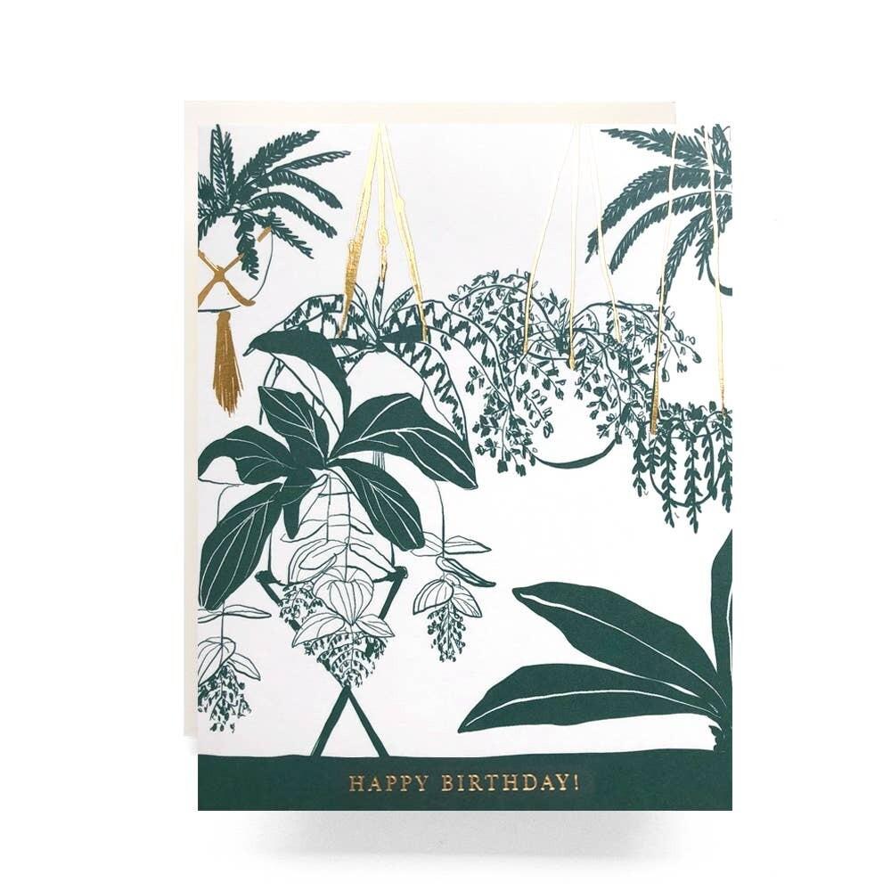 Houseplants Happy Birthday Card - AQ22