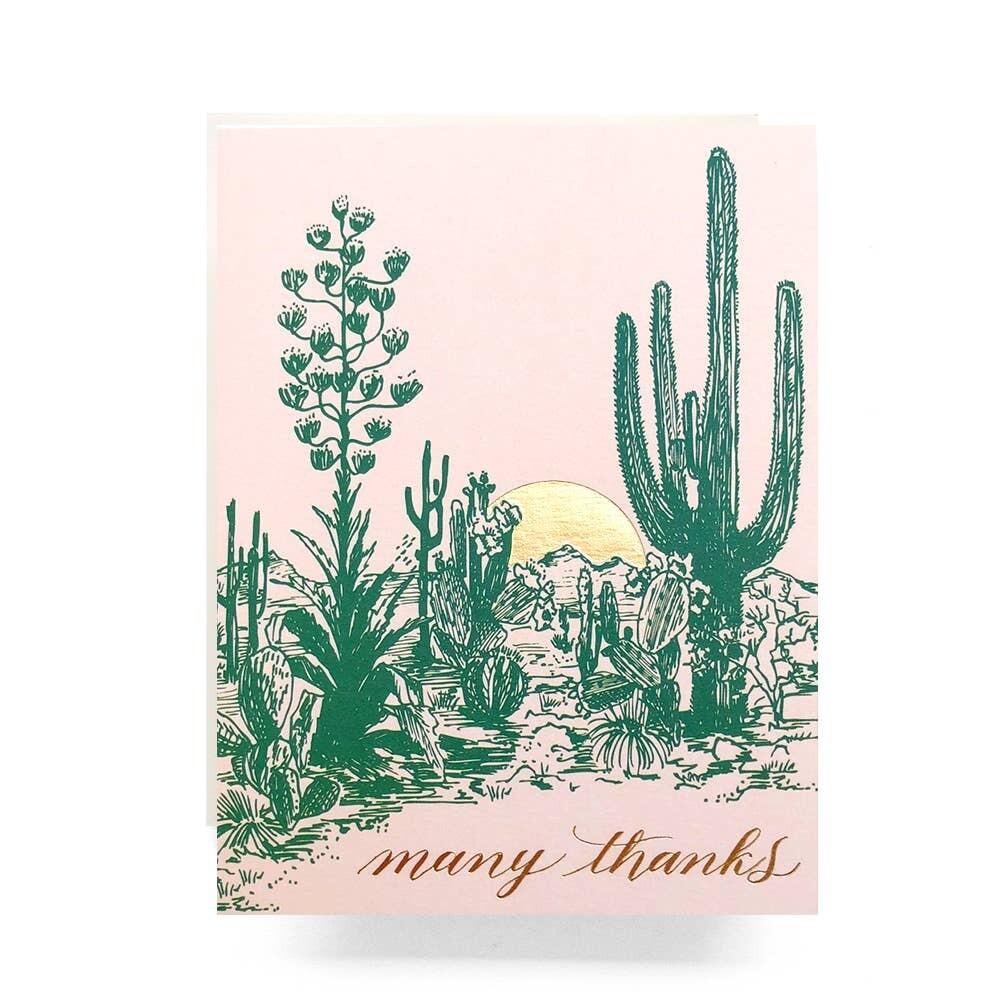Cactus Sunset Thank You Card - AQ23