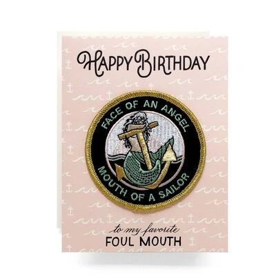 Angel Patch Card Happy Birthday - AQ5