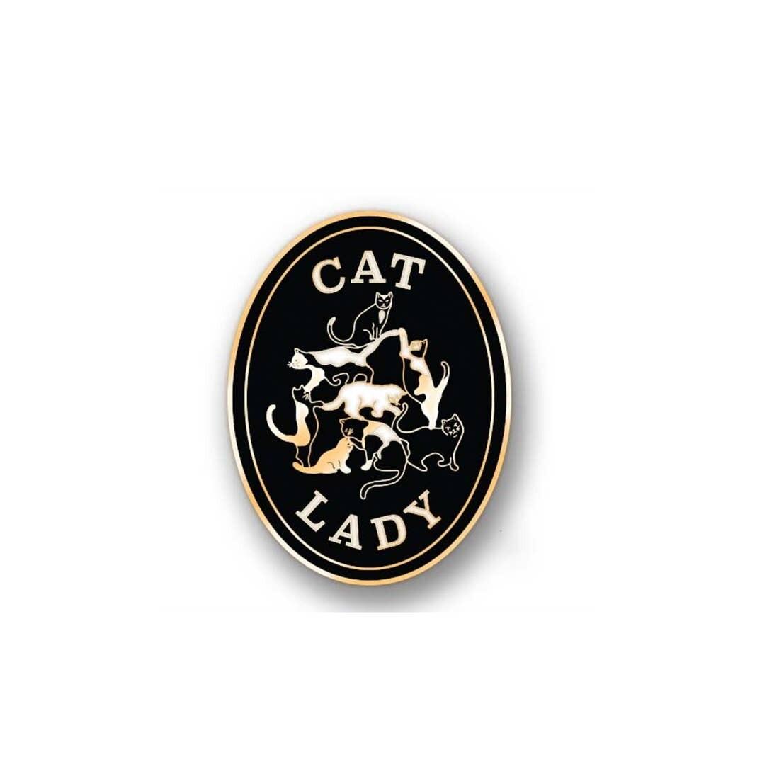 Cat Lady Enamel Pin - AQP5