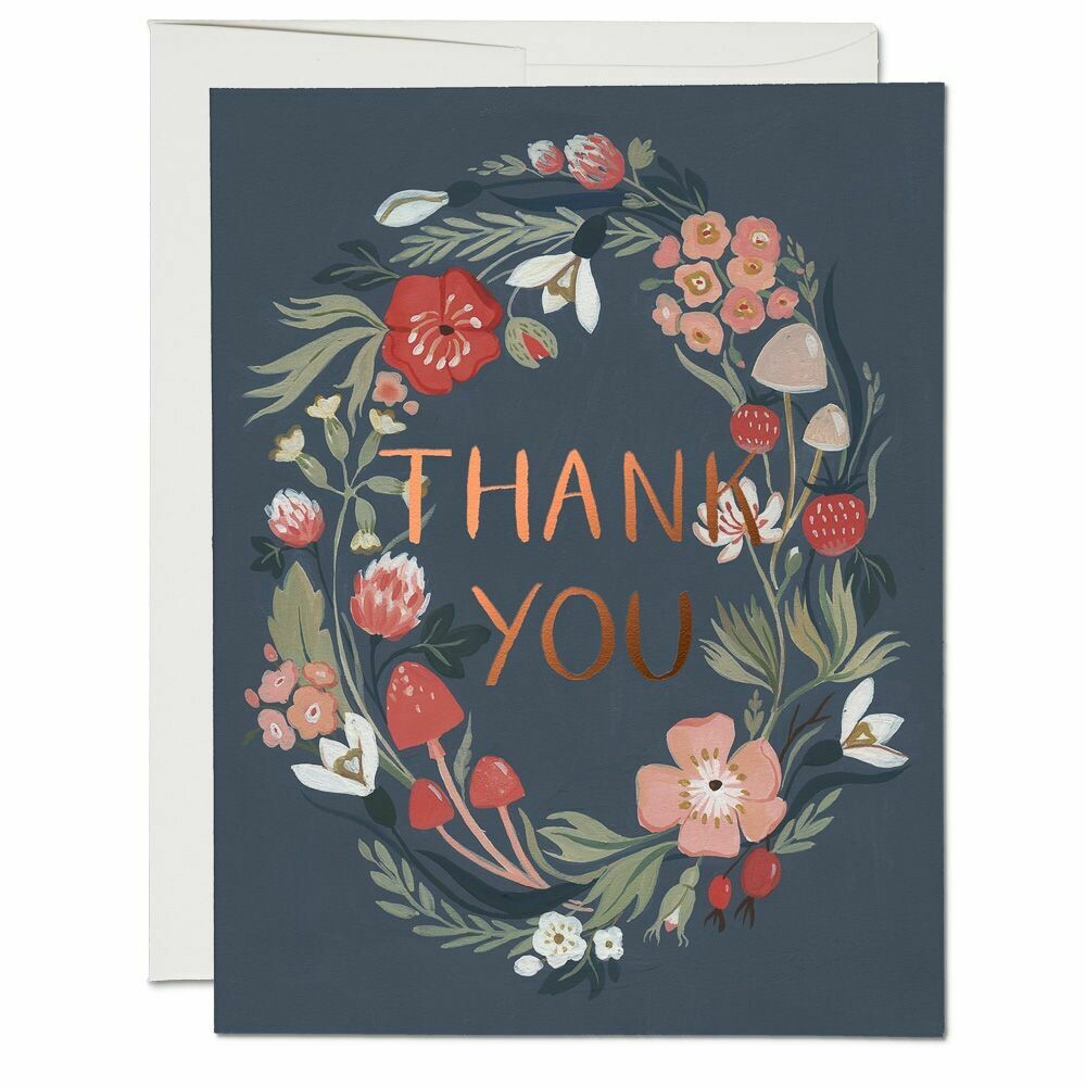 RC56 Thank You Forest Blue Card
