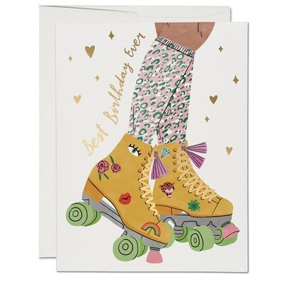 RC50 Best Birthday Roller Skate Card