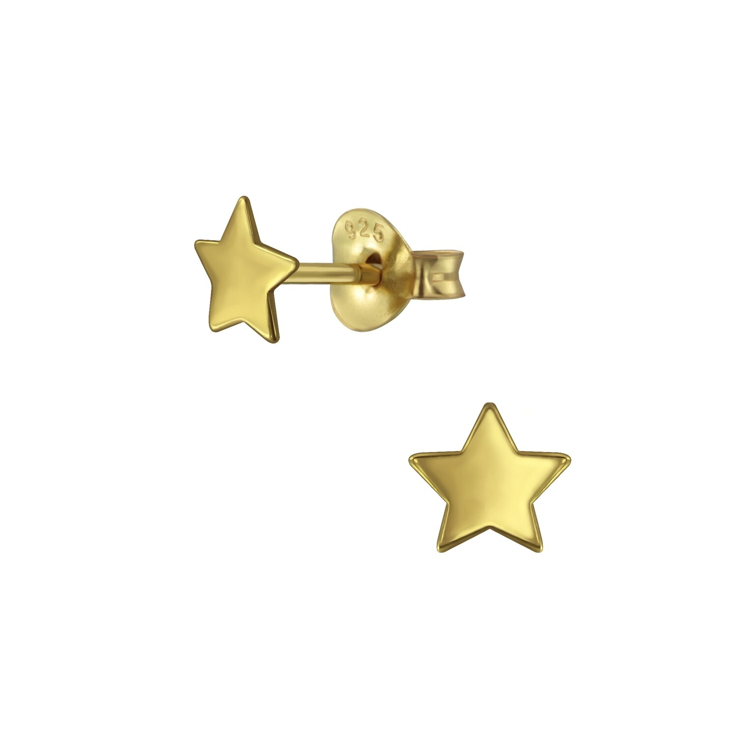 5mm Star Posts - Gold Plated Sterling Silver - P60-3