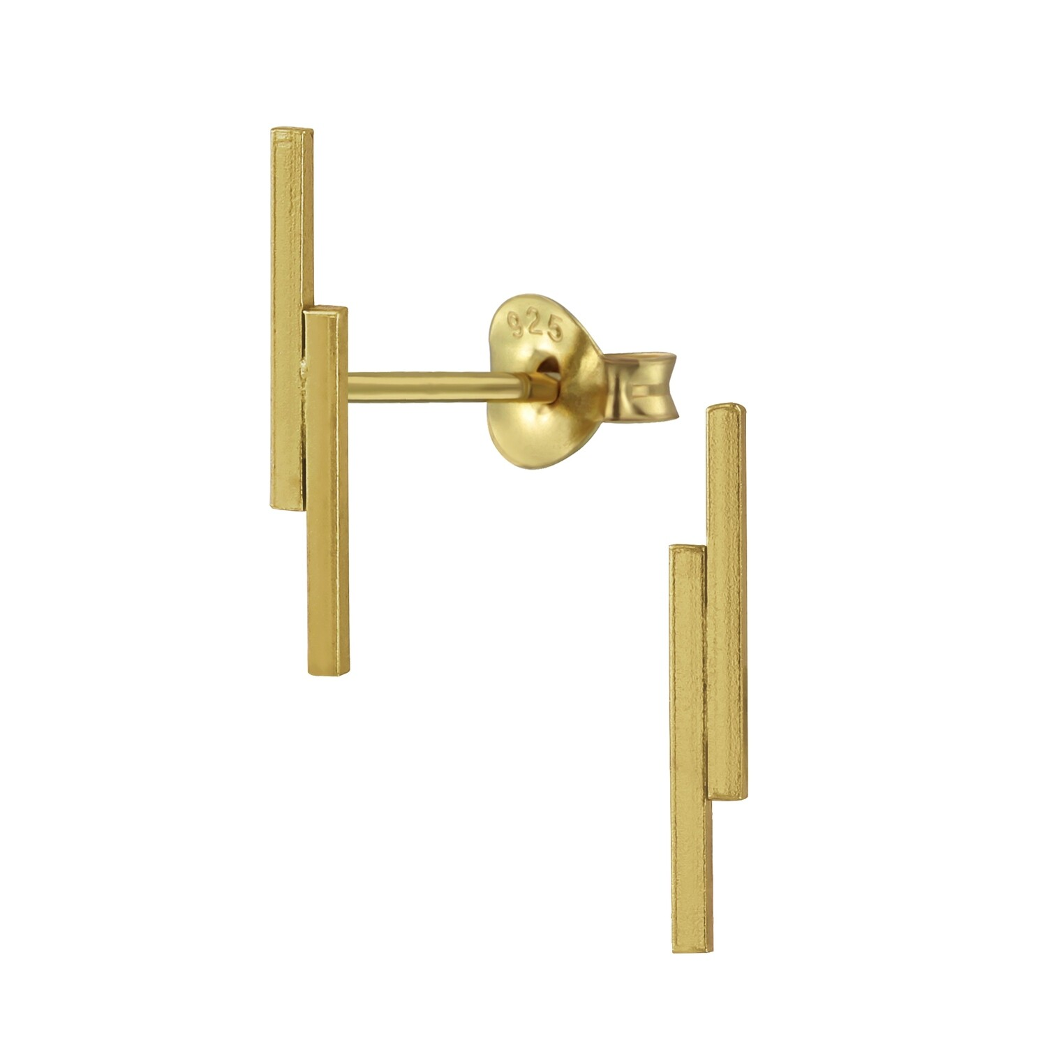 Double Bar Posts - Gold Plated Sterling Silver - P60-4