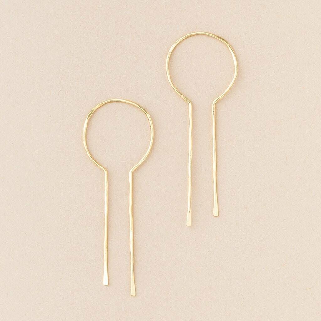 Gold Vermeil Equinox Keyhole Hoop Earrings - ER004