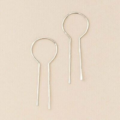 Sterling Silver Equinox Keyhole Hoop Earrings - ER003
