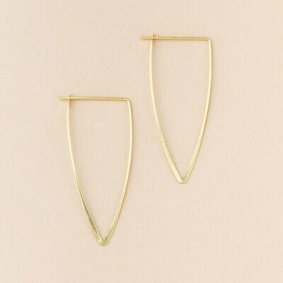 Gold Vermeil Galaxy Triangle Earrings - ER006