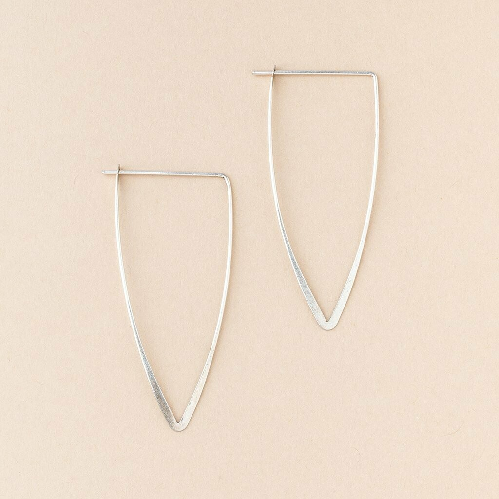 Sterling Silver Galaxy Triangle Earrings - ER005