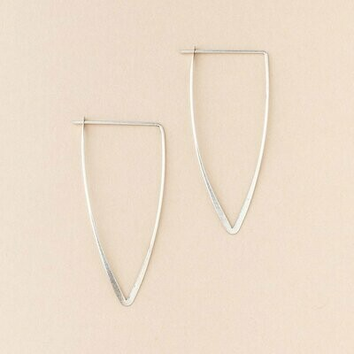 Sterling Silver Galaxy Triangle Earrings - ER005