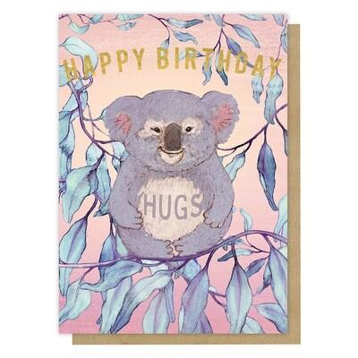 Happy Koala Birthday Greeting Card