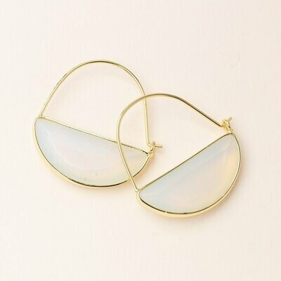 Opalite Prism Hoop - Sterling Silver Dipped Wire - EP012