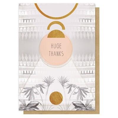 Huge Thanks Greeting Card