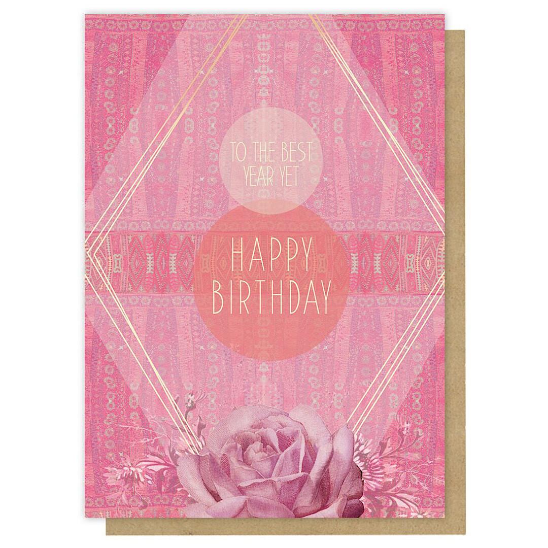Best Year Yet Birthday Greeting Card - PAC347
