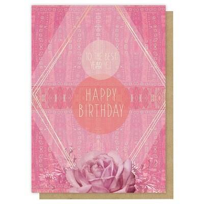 Best Year Yet Birthday Greeting Card