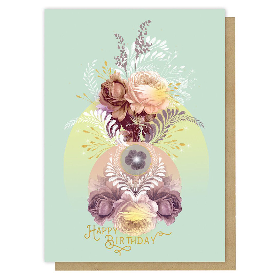 Solar Blooms Birthday Greeting Card - PAC356