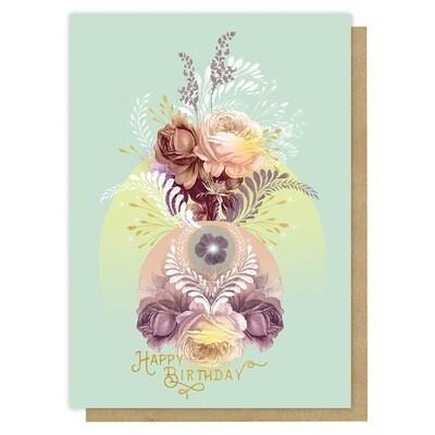 Solar Blooms Birthday Greeting Card