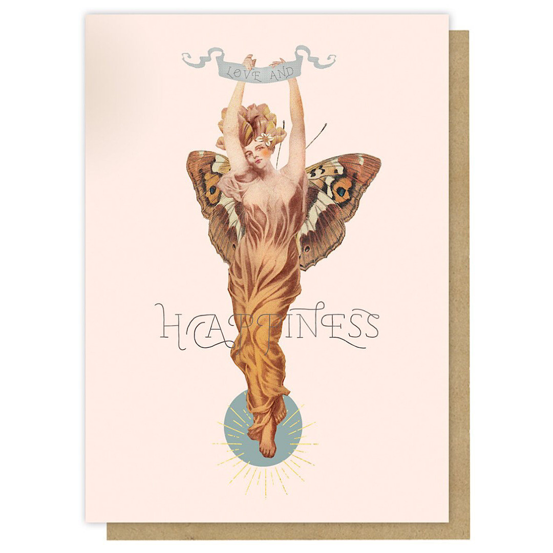 Butterfly Woman Greeting Card - PAC357
