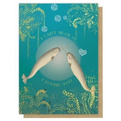 Found Narwhals Greeting Card - PAC26