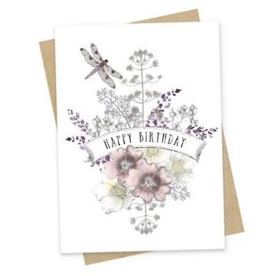 Dragonfly Birthday Small Greeting Card